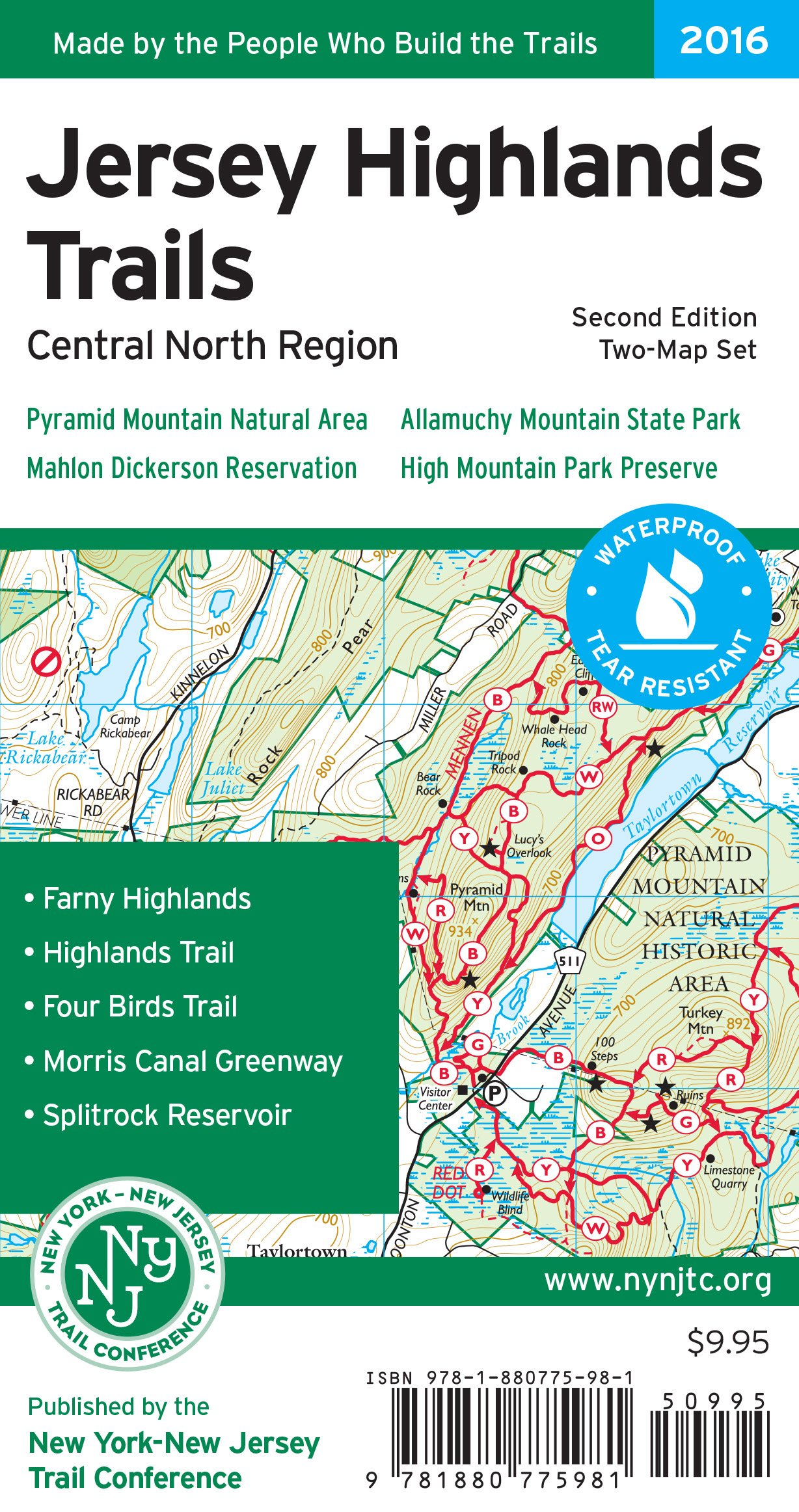 Jersey Highlands Trails Map: Pyramid Mountain Natural Area, Mahlon Dickerson Reservation, Allamuchy Mountain State Park, High Mountain Park Preserve ebook