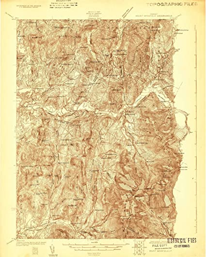 Amazon.com : YellowMaps Mount Mansfield VT topo map, 1:48000 Scale ...