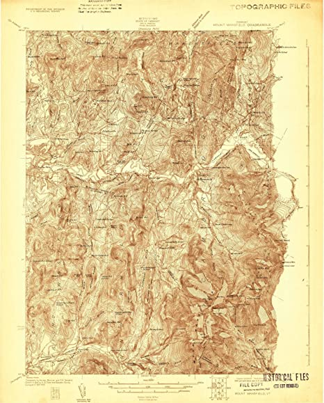Topographic Map Vermont.Amazon Com Yellowmaps Mount Mansfield Vt Topo Map 1 48000 Scale