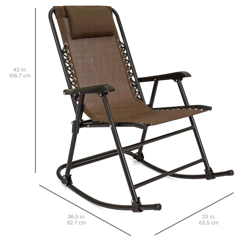 finest selection e8c27 71c3e Amazon.com : Brown Folding Foldable Rocking Rocker Armrest ...