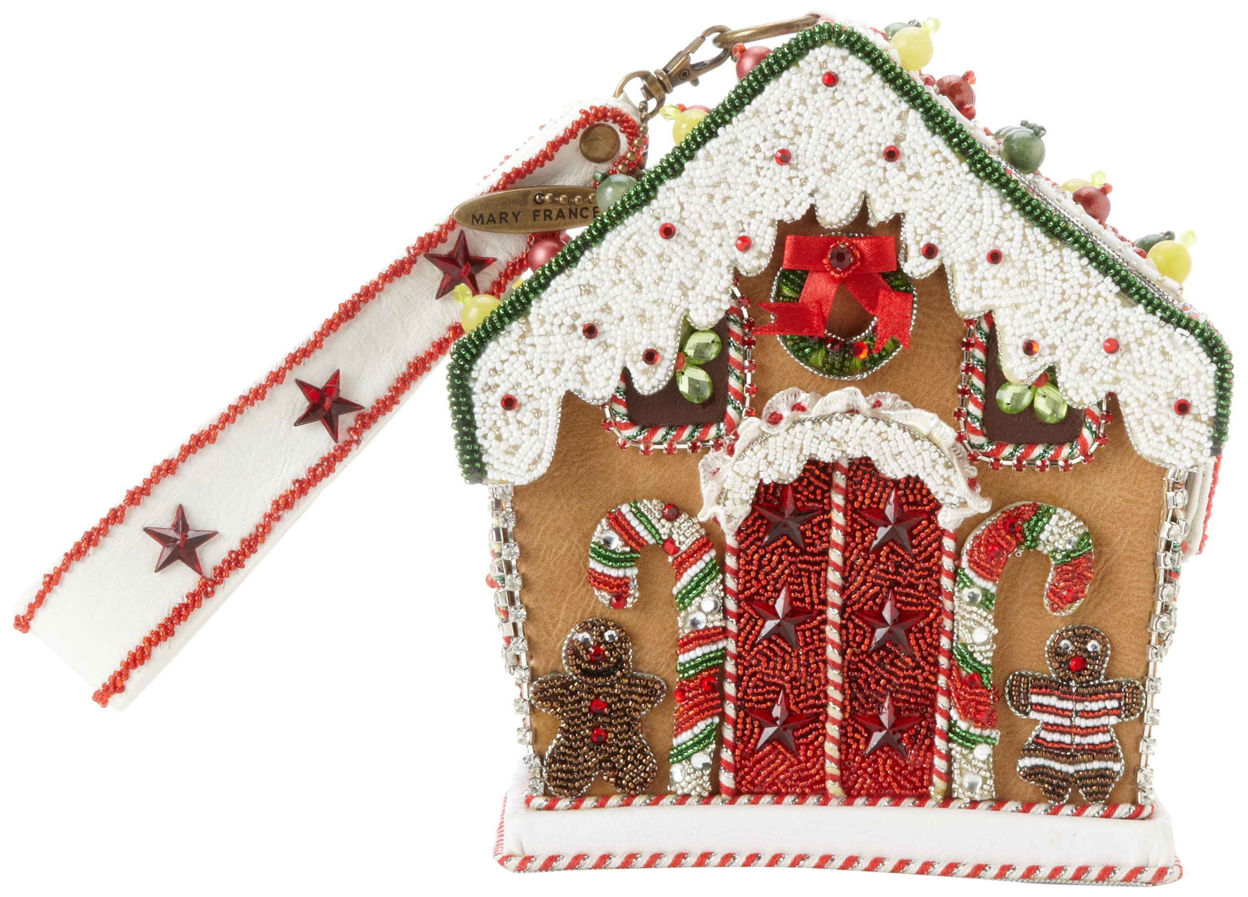 Mary Frances Gingerbread House Evening Bag,Multi,One Size