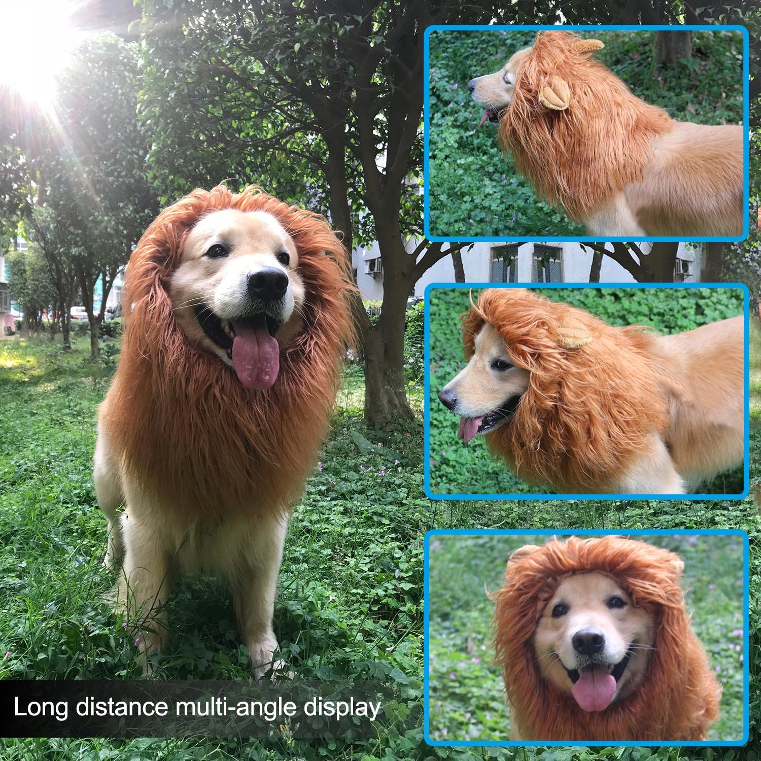 RWM ICCKER Lion Mane for Dog - Halloween Dog Costume Large Size - Hilarious Realistic & Funny Majestic Looking Hoods with Ear and Tails - Great Pet Gift Choice for Christmas,Pet Birthday Party by RWM (Image #8)