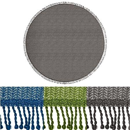Amazing Casa Pura Non Slip Round Tablecloth Cover, Wonderland, Floral Design   Grey  (