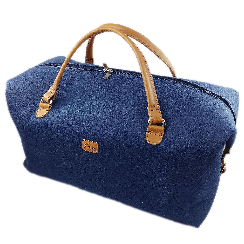 509a752eef0b3 Handgepäck-Tasche Businesstasche Weekender handgemacht Handtasche  Reisetasche Tasche Herren Damen mit Leder-Applikationen (