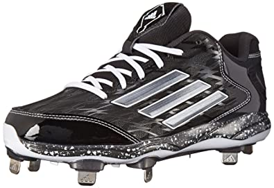adidas Performance Men's PowerAlley 2 Baseball Cleat, Black/Carbon/Carbon,  ...