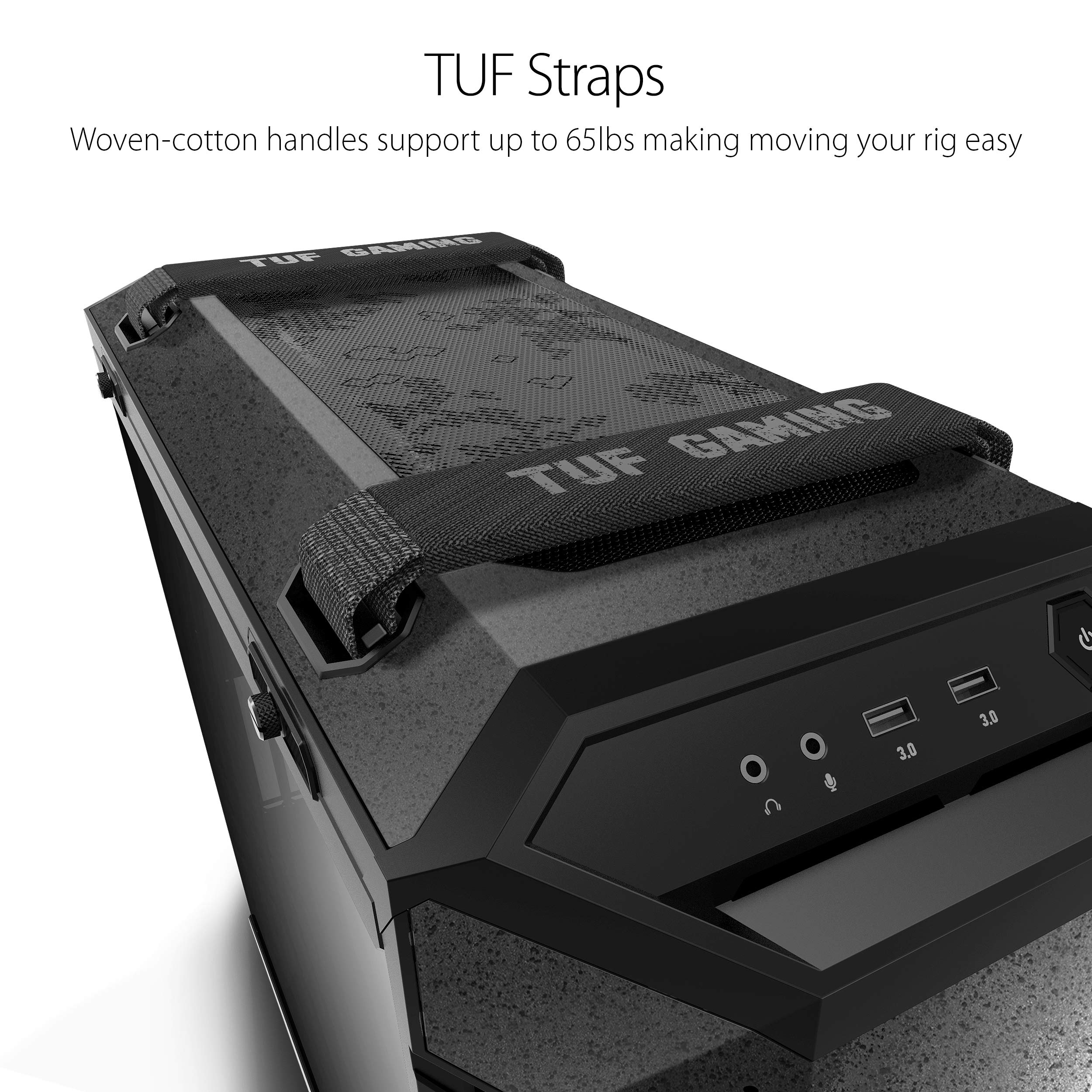 ASUS TUF Gaming GT501 Mid-Tower Computer Case for up to EATX Motherboards with USB 3.0 Front Panel Cases GT501//GRY//WITH Handle