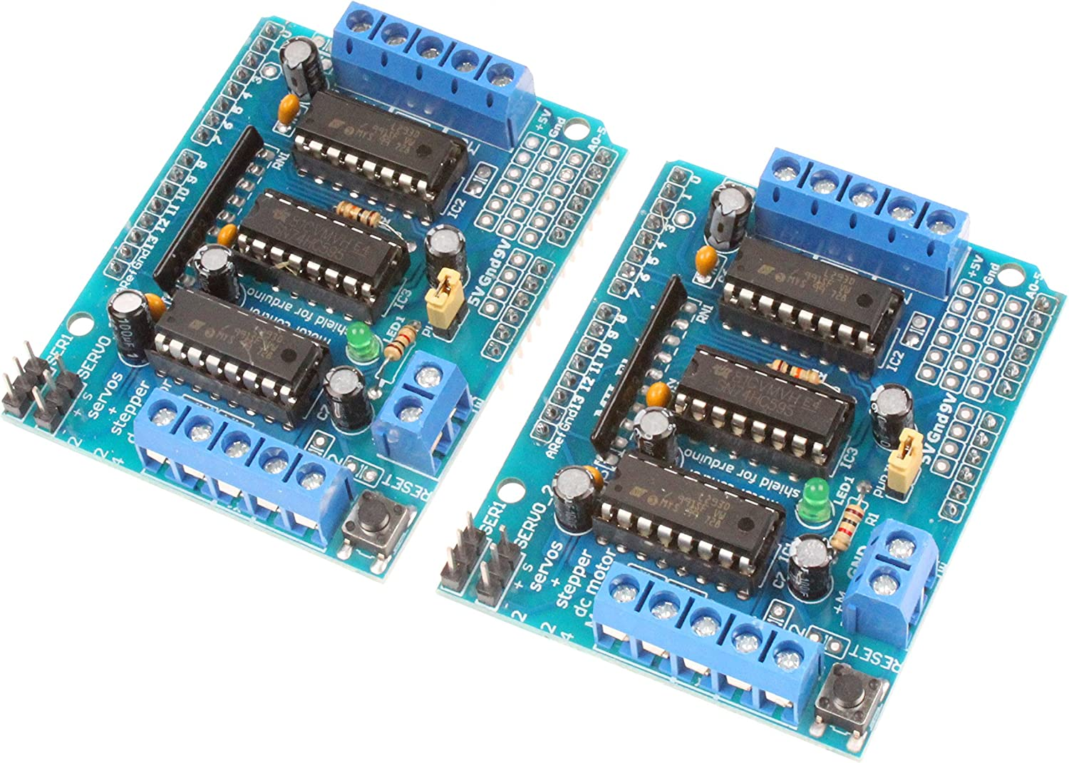 NOYITO L293D Drive Module Motor Drive Shield Expansion Board Motor Control Board (Pack of 2)