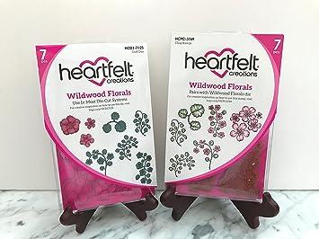 HCD1-7125+HCPC3769 Lot Set Heartfelt Creations Dies+Stamp Set ~ Wildwood Florals