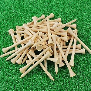 Crestgolf Golf Tee 2-3/4 inch Deluxe Tee Pack of 100