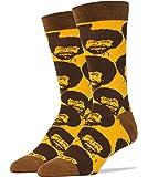 Oooh Yeah Men's Funny Novelty Pack Crew Bob Ross Socks