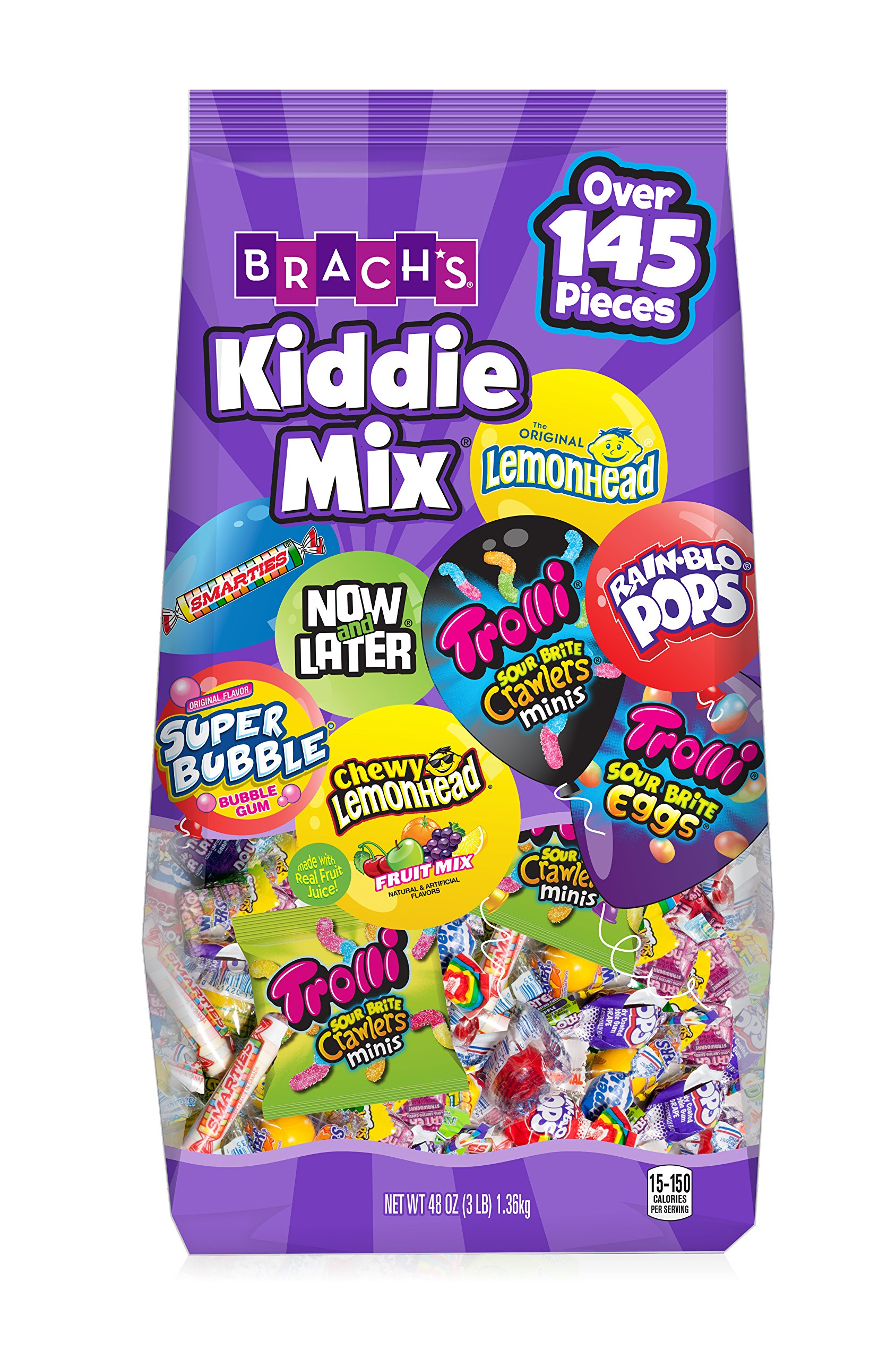 Brach's Kiddie Mix Variety Pack Individually Wrapped Candies, 48 Ounce