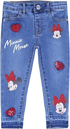 Minnie Mouse Disney Denim Trousers Jeans For Girls Amazon Co Uk Clothing