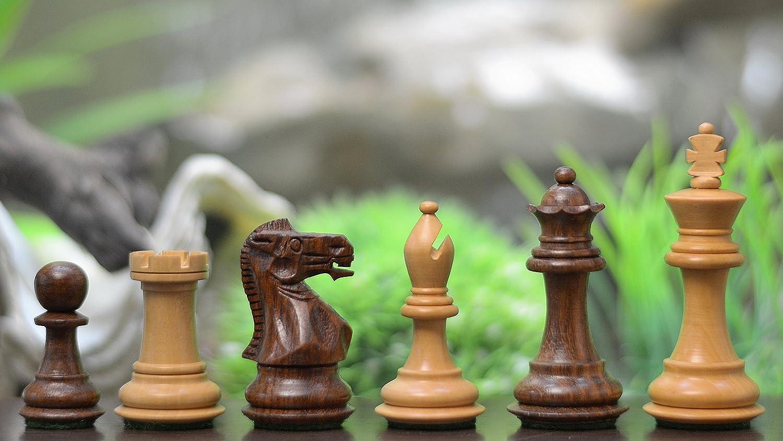 Chessbazaar Sammler-Serie: Indische handgefertigten Staunton Schachfiguren aus Sheeshamholz und Buchsbaumholz – KH 68 mm