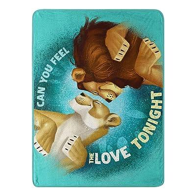 "Disney's The Lion King, ""Feel The Love"" Micro Raschel Throw Blanket, 46"" x 60"", Multi Color: Garden & Outdoor"