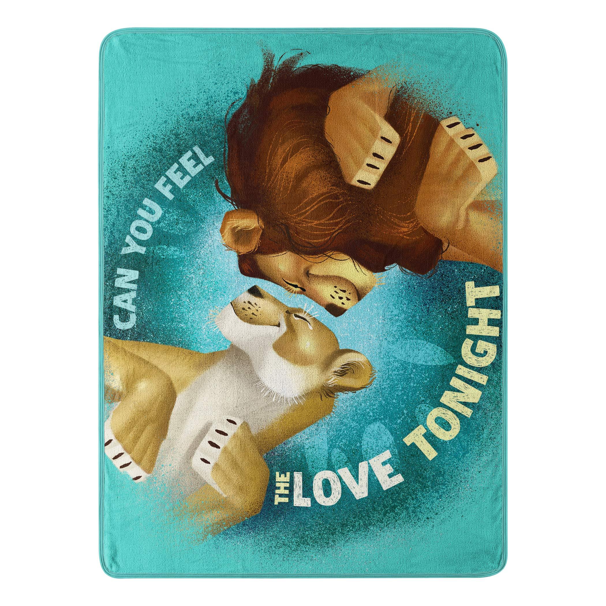 Disney's The Lion King, ''Feel The Love'' Micro Raschel Throw Blanket, 46'' x 60'', Multi Color by Disney