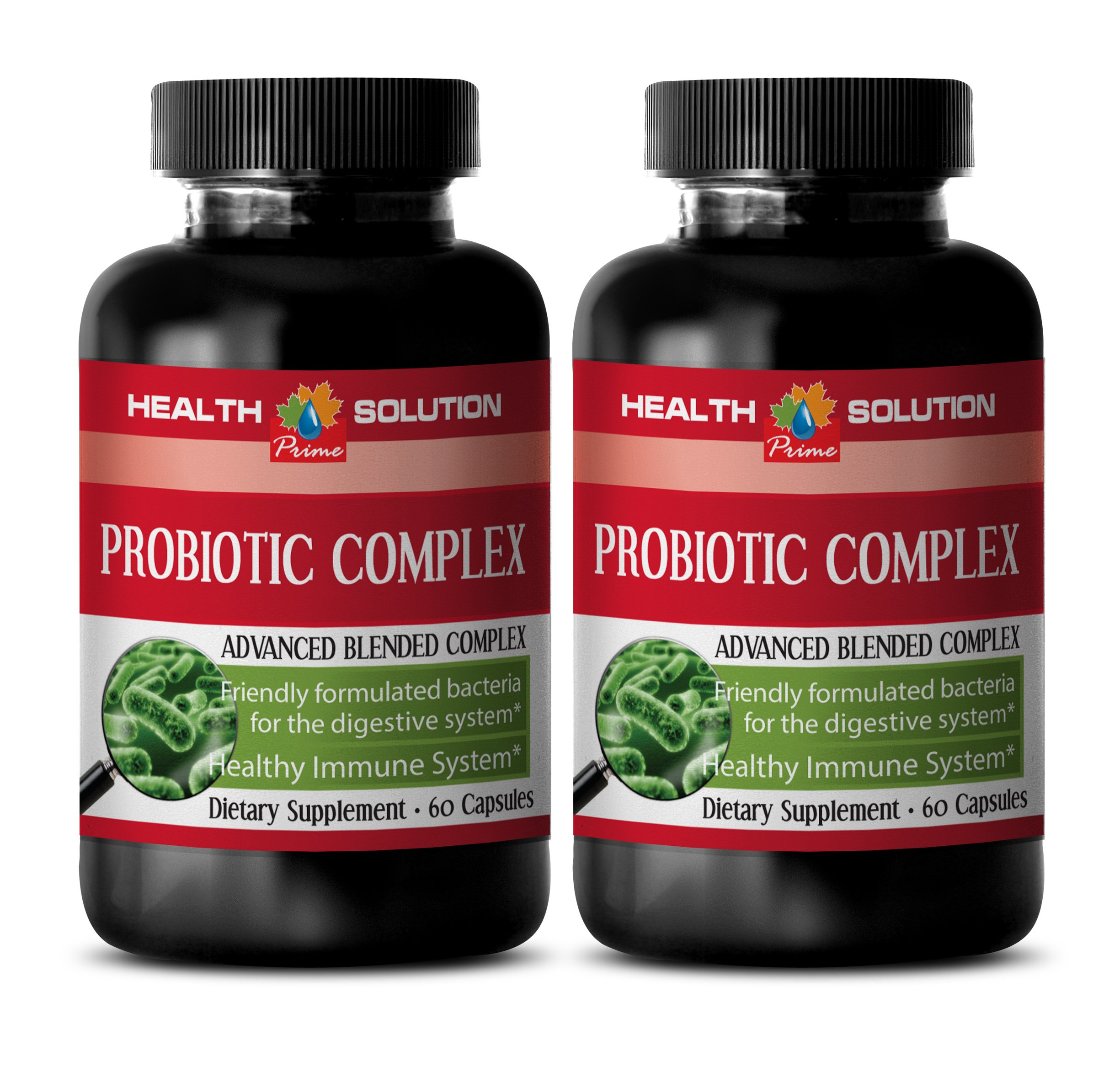 Probiotic capsules - PROBIOTIC COMPLEX 550MG - promote digestive function (2 Bottles)