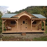 Timber Frame Post and Beam Cabin Plans - 12x20 Home Office
