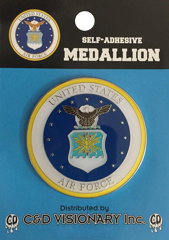 Licenses Products Air Force Self-Adhesive Medallion C/&D Visionary Inc MED-AF-0001-V