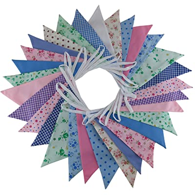 10 m Floral Mix - doble cara, guirnalda de tela, tela, multicolor, 1 pack: Hogar