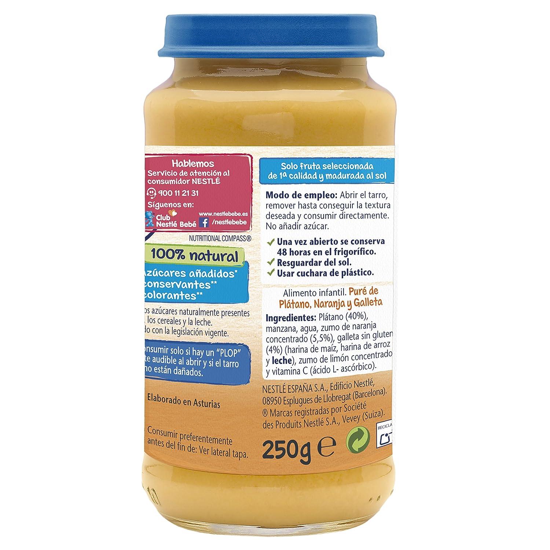 Nestlé Naturnes - Merienda Plátano, Naranja y Galleta - A partir de 4 meses - 250 g