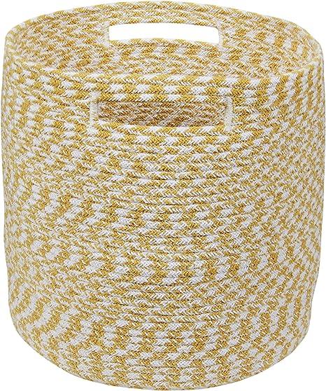 Home Basics HMB19 Cestos para Almacenaje, Algodón, Multicolor, 30 x 30 x 30 cm: Amazon.es: Hogar