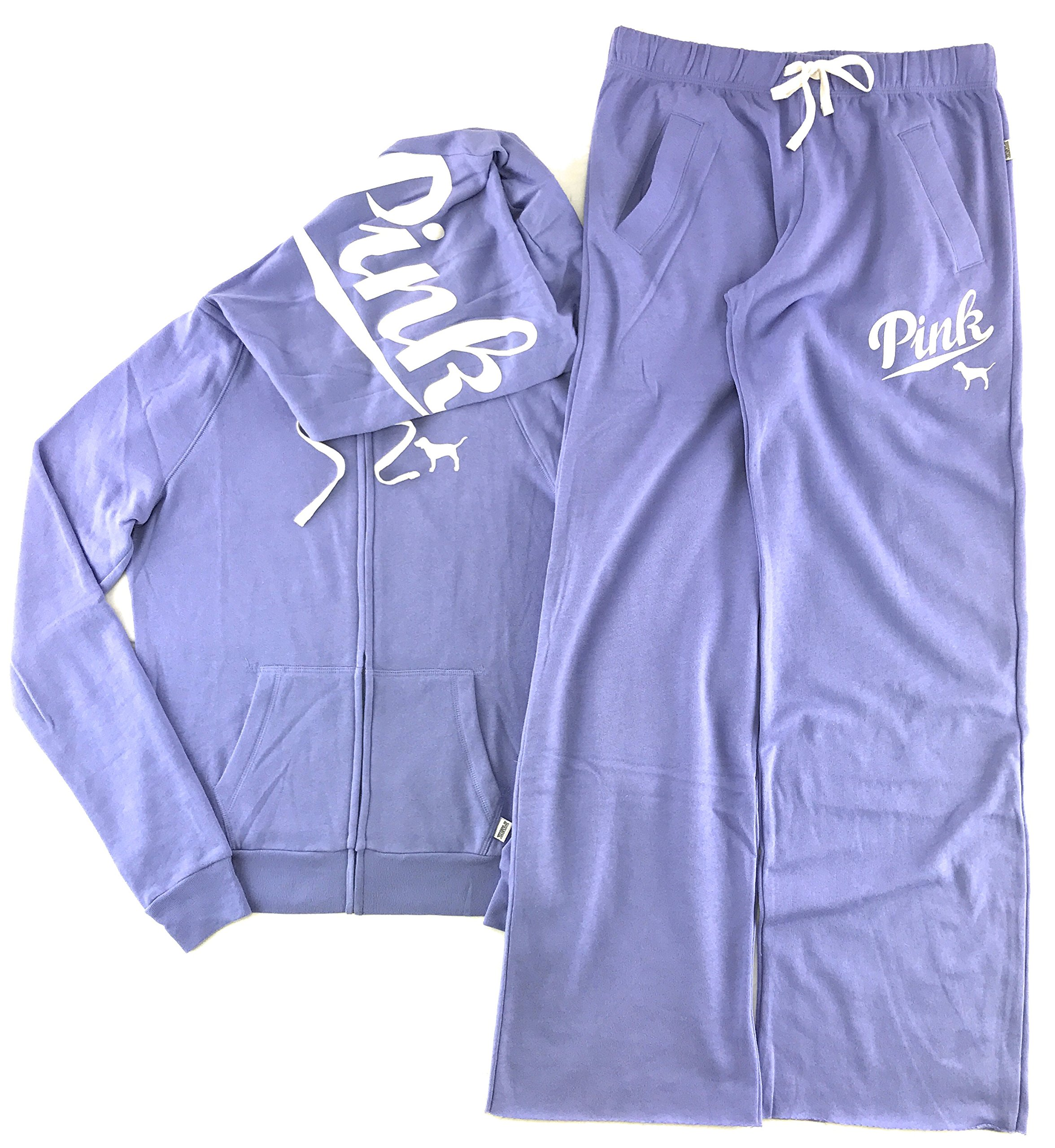 Victoria's Secret Pink Hoodie and Sweat Pants Set Lustrous Lilac Small