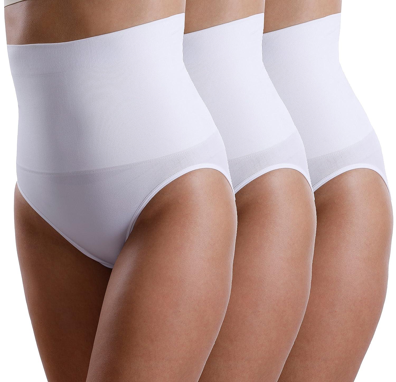 3 Pezzi Modellante Slip per donna a vita alta