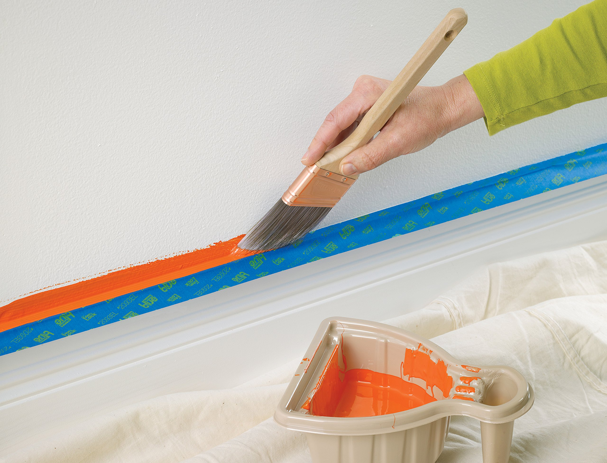 ScotchBlue 2093EL-24CVP Trim + BASEBOARDS Painters Tape.94 in x 60 yd, 3 Rolls, Blue by ScotchBlue (Image #9)