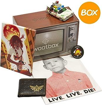 WOOTBOX-Old School - Caja de Regalo - Dewie - Ghostbusters - Canvas - Zelda - Tamaño: WTB-2018-001-FR-00H-000S-000, marrón: Amazon.es: Juguetes y juegos