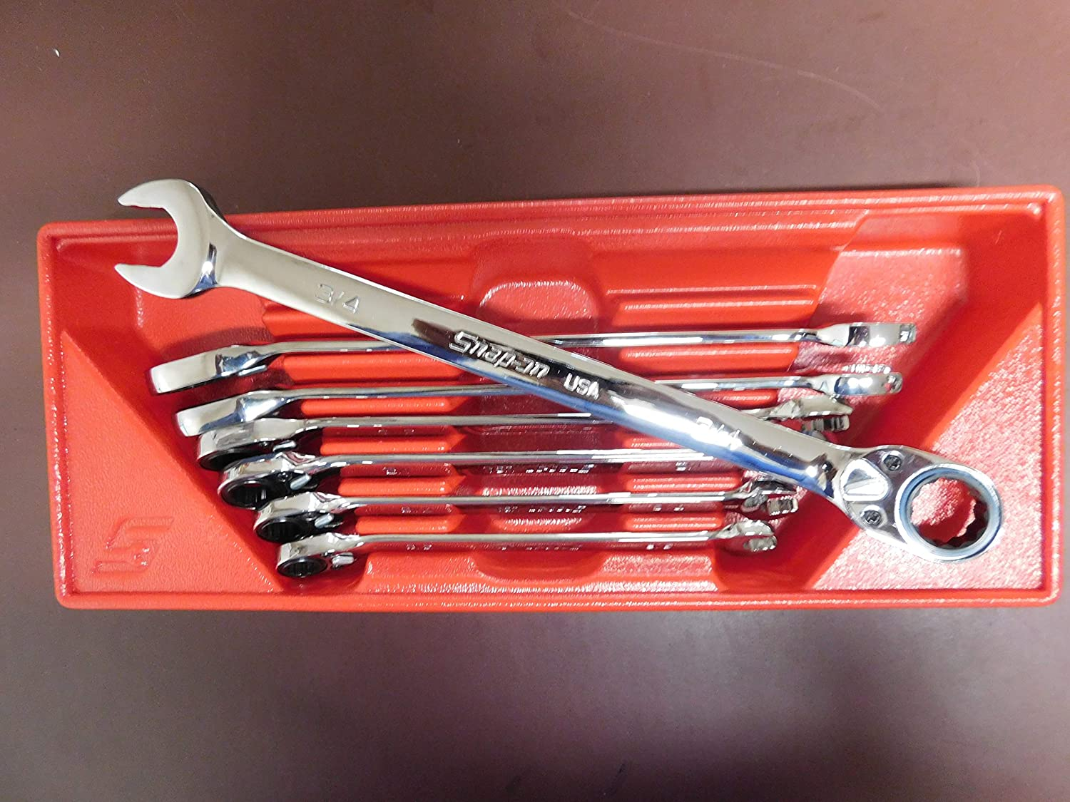 Ratcheting Wrench Set Box-End SAE Reversible Garage Shop Hand Tool 12-Piece
