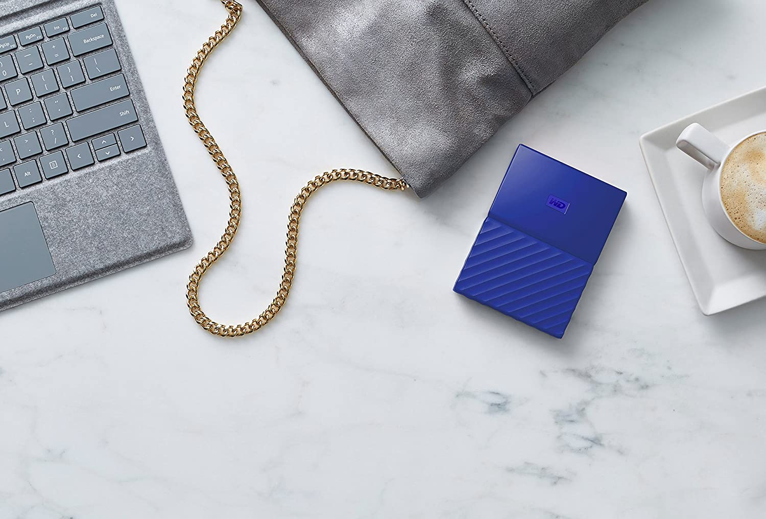 WD My Passport 4 TB Portable Hard Drive for PC Blue Xbox One and PlayStation 4