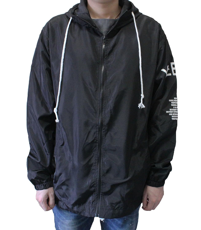 4ac50161c2f Men Lightweight Windbreaker Jacket West Skateboard Hiphop Streetwear  Leisure Outwear Windproof Autumn Spring at Amazon Men s Clothing store