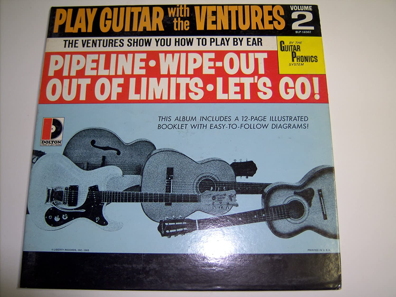 The Ventures Play Guitar With Volume 2 Vinyl Acoustic String Diagram Music