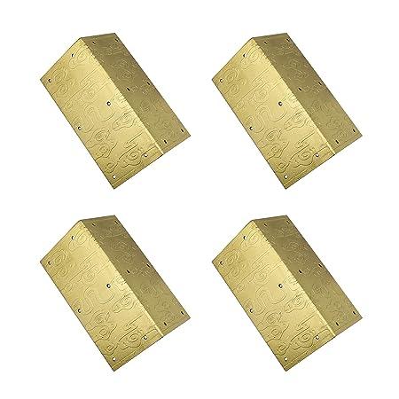 rzdeal 4pcs 1 6 x 3 1 embossing brass box corner protector