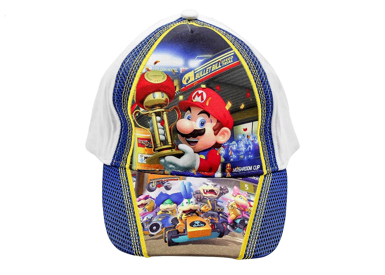Gorra de Super Mario Kart blanca talla 54
