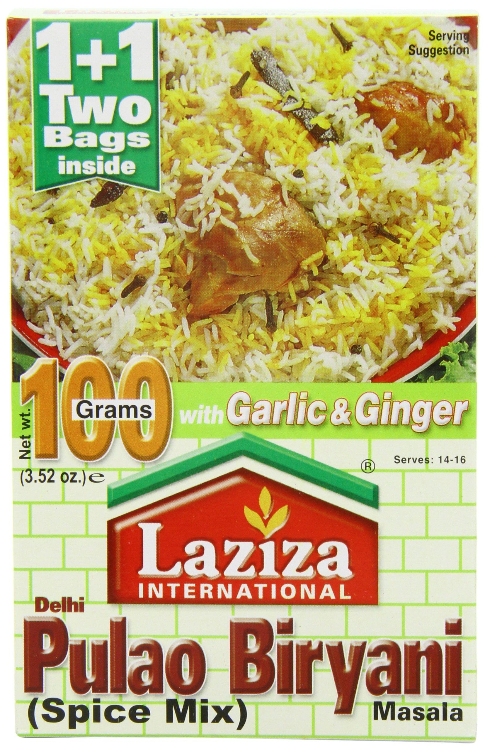 Laziza Pulao Biryani Masala, 100-Gram Boxes (Pack of 6)