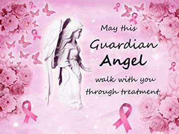 Cancer Fabric Breast Cancer Fabric Guardian Angel Breast Cancer Panel 1007 20 X 28 Inch