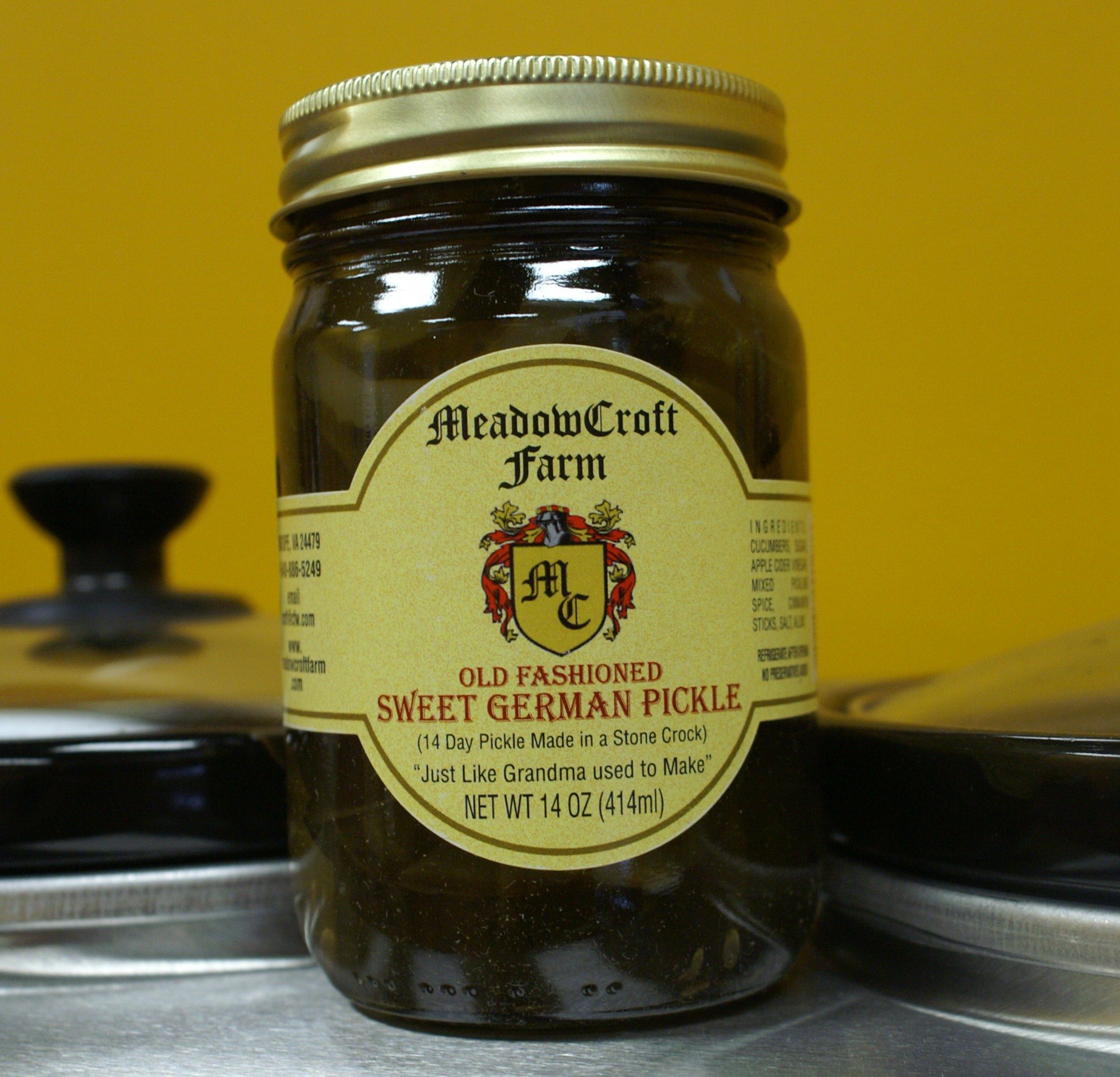 Pickles Sweet German - MeadowCroft Farm Old Fashioned Sweet German Pickles- 2 PACK 14-day barrel-aged pickle-