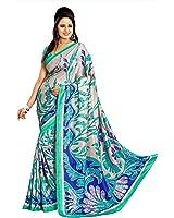 Miraan Women's Kora Silk Saree With Blouse Piece (Vi8588,Multicolor,Free Size)