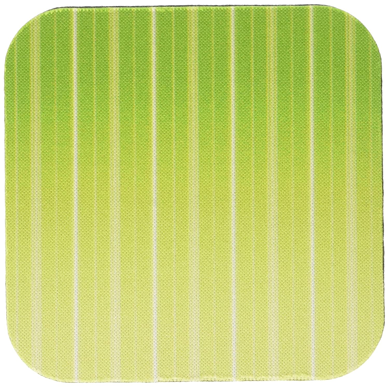 3dRose cst/_60943/_1 Modern Lime Green Striped Pattern Art Soft Coasters Set of 4