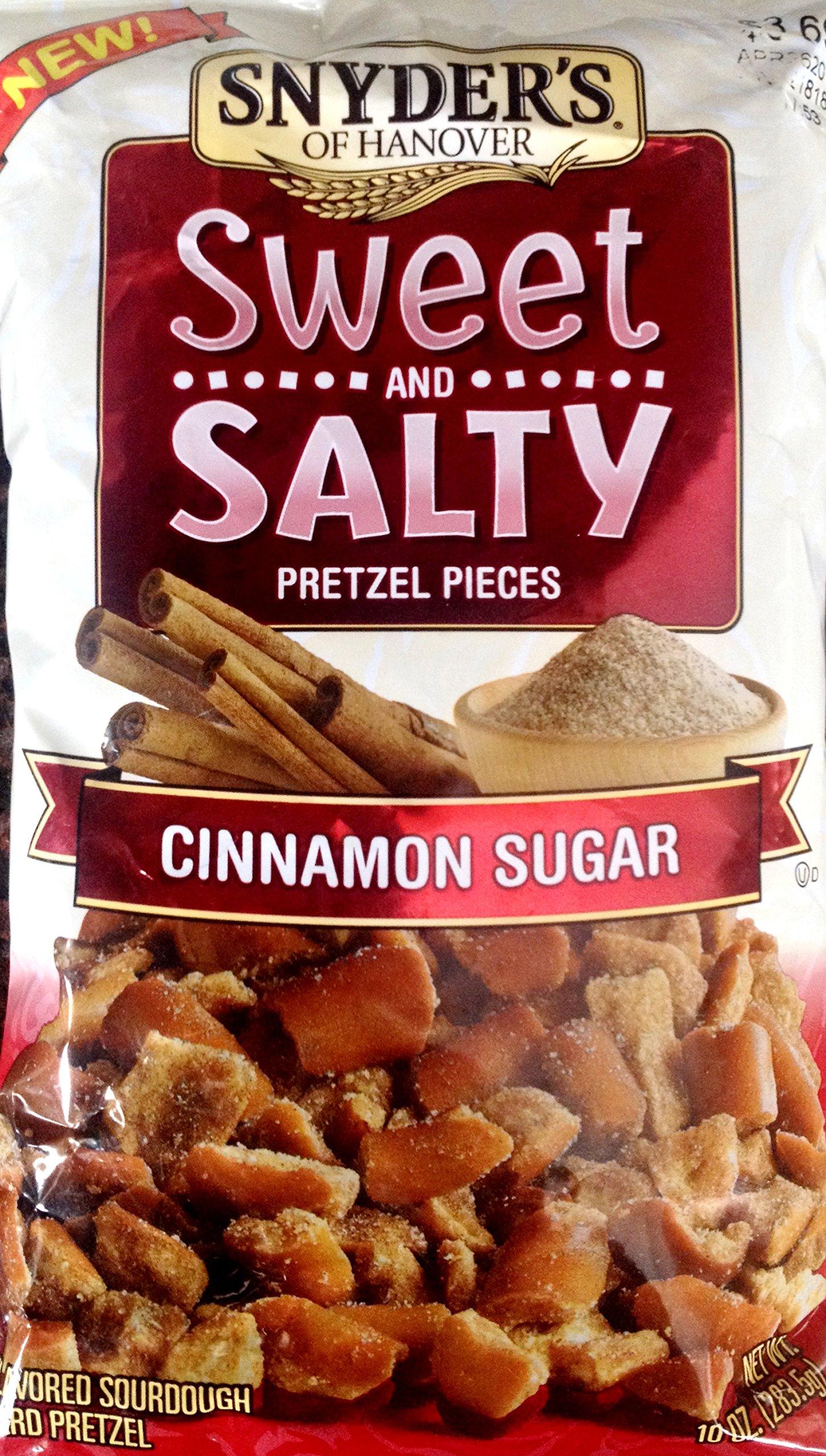 Snyder's SWEET & SALTY PRETZEL PIECES Cinnamon Sugar 10oz. (Pack of 8)