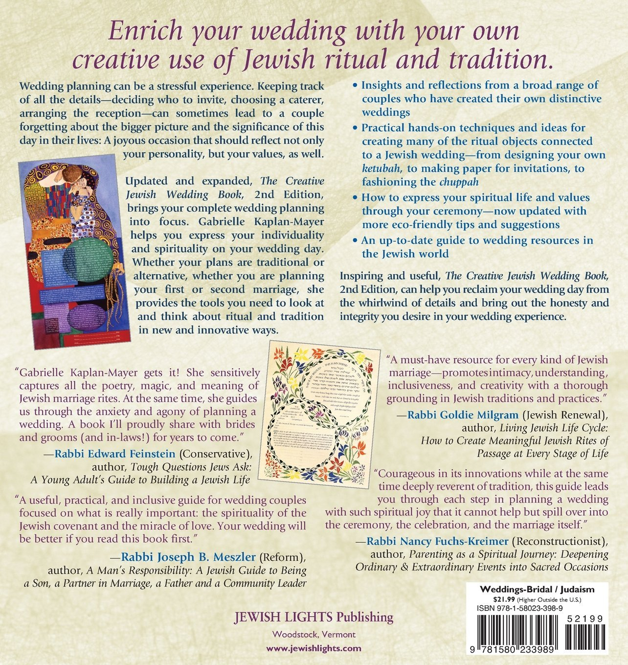 The Creative Jewish Wedding Book (2nd Edition): A Hands-On Guide to New & Old Traditions, Ceremonies & Celebrations
