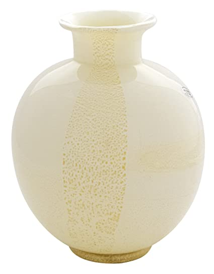Amazon Murano Glam Vaso Tondo Oro Murano Vase Glass Gold Leaf