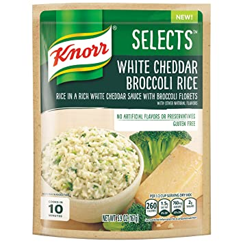 Knorr Selects Rice Side Dish White Cheddar Broccoli 5 9 Ounce