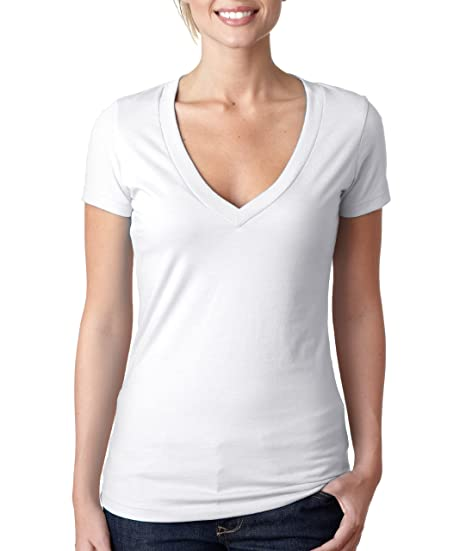 03d9050c9af37 Image Unavailable. Image not available for. Color  Next Level Apparel Ladies  Juniors  CVC Deep V-Neck T-Shirt.
