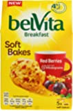 Belvita Soft Bakes Red Berries Biscuits, 5x250g (Pack of 6)