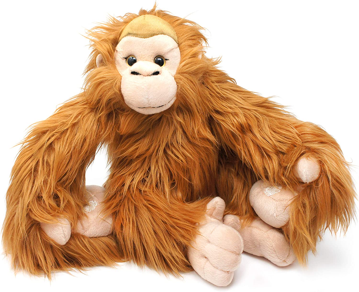Ornaldo The Orangutan Monkey - 19 Inch (with Hanging Arms Outstretched) Stuffed Animal Plush Chimpanzee - by Tiger Tale Toys