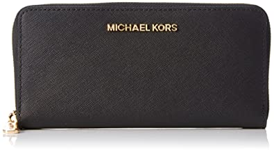 MICHAEL Michael Kors Women\u0027s Jet Set Travel Saffiano Continental Wallet,  Black