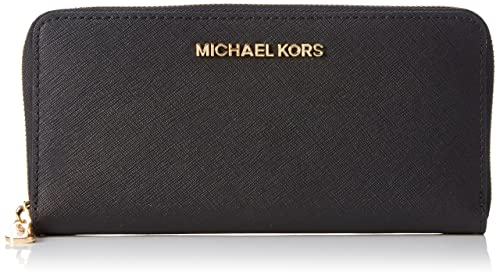 f6a2e33f15ca MICHAEL Michael Kors Women's Jet Set Travel Saffiano Continental Wallet,  Black