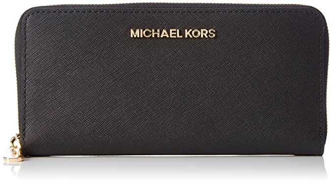 dd251f3a4453 Michael Kors Womens 32S3GTVE3L001 Jet Set Travel Continantal Wallet Black